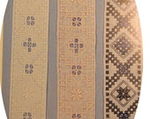 """Hardanger Bell Pull - COMPLETE KIT - A """"new"""" vintage kit with Beginner Booklet with all supplies, on ivory linen"""