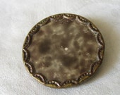 VINTAGE Marble Celluloid in Metal Pad Back BUTTON