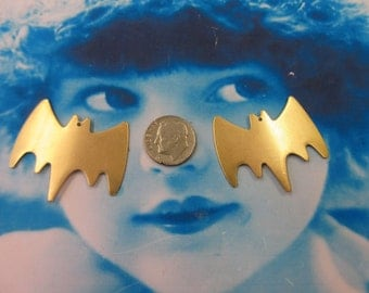 Natural Raw Brass Batman Style Charms  795RAW x2