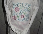Winter Wonderland Snowflake Embroidered T-Shirt