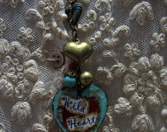 Wild Heart Necklace for Cowgirls or Urban BoHo Gals