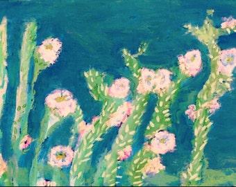Desert, cactus-Roses ~ Floral Art ~ Bohemian Roses ~ Floral Decor ~  Roses ~ Romantic Decor