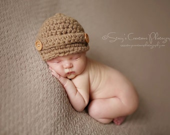 Crochet Toddler Hat, Crochet Boy Hat, Boy Beanie, Toddler Boy Hat, Childrens Hat, Boy Newsboy Hat, Childs Newsboy Hat, Childs Beanie