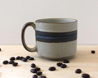 Otagiri Blue Horizon flat cup, 1970s rustic serving.