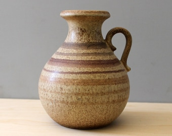 1960s West German pottery vase by Scheurich, Model No.495-16, jug form.