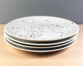 Raymond Loewy Rosenthal Confetti bread and butter plates,  set of four. Mid century modern serving.