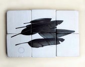 Little Feathers - Pencil on Wood - Rough Hewn Series