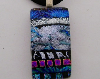 Dichroic glass necklace