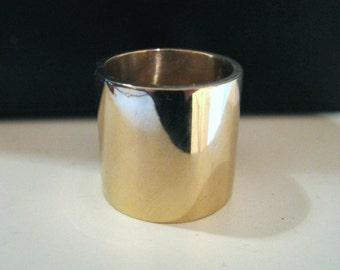 Extra Wide Heavy Cigar Ring Band Men Women 14K or 18K Solid Yellow, Rose, or White Gold