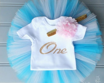 Toddler Tutu Outfit, First Birthday Outfit Girl, Turquoise Cake Smash Outfit Girl, 1st Birthday Outfit Girl, Tutu Skirt, Tulle Skirt Set