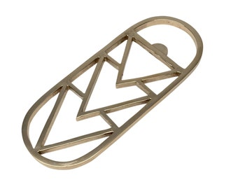 Brass Bottle Opener Geometric Bottle Opener Gold Bottle Opener
