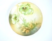 reinhold schlegelmilch plate green poppies made in germany porcelain vintage decorative wall plate hand painted decoration