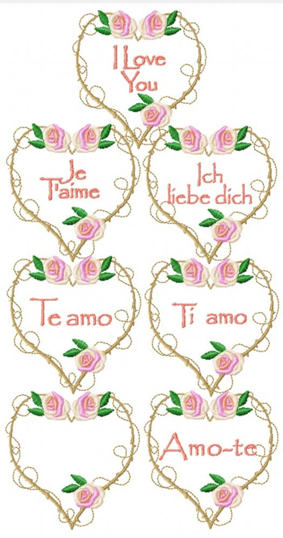 My funny valentine machine embroidery designs from