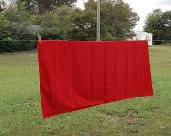 Vintage Red Tablecloth Christmas Tablecloth Holiday Tablecloth 52 x 52 Tablecloth Cranberry Tablecloth Square Tablecloth Holiday Table Decor