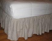 Custom Listing for Janet - LINEN DAYBED Ruffles Bed Skirt