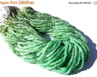 55% OFF SALE Buy Wholesale Lot - 10x14 -140 Inches of Super Finest Natural Chrysoprase Micro Faceted Rondelles Size 3.5 - 4mm approx