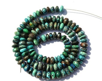 55% OFF SALE 16 Inches 117Ctw AAA Chrysocolla Smooth Roundelles Stone Beads Size 5.5-6mm Apx