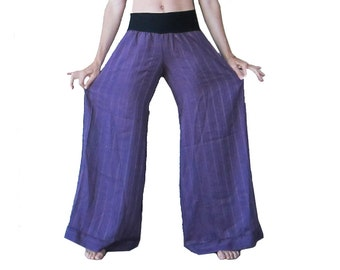 Purple Flow Pants - Vintage, OOAK, Wide Leg, Festival Pants, Summer Pants