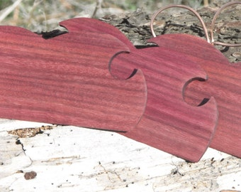 Hand Crafted Purpleheart Shuttles / Beaters for Card / Inkle Weaving