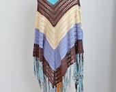Lace crochet shawl, stole, Cotton, N370