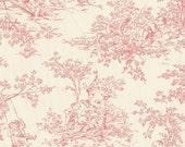 Pink Toile Valance - Baby Toile Blush Fabric  - nursery valance, home decor, kids room, playroom, bathroom