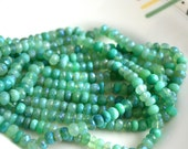 Mystic Crysoprase 5x3mm Faceted Rondelle Beads   25