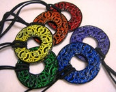 Dreadlocks Hair tie or Ponytail Holder for Dreads or Thick Hair or Sisterlocks Embossed Medallion You Choose Color