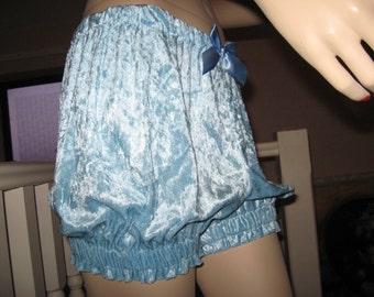 Sequoia New Blue Black white purple velvet Sissy Shorts Bloomers Pantaloons Party Dance