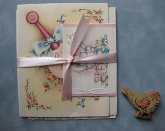 Vintage New Baby Cards, Collection