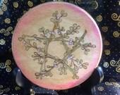 Made to Order Yule Altar Tile Mistletoe Pentagram