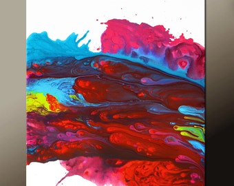 Abstract Art  Painting 18x24 Canvas Contemporary Art Paintings by Destiny Womack - dWo - Chasing Dreams