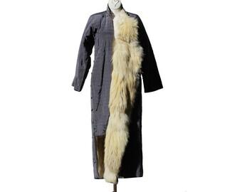 Women's Full Length Reversible Fox Fur Coat