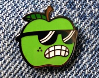 Hard Enamel Lapel Pin Apple