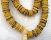 Yellow Yak Bone Bead - 10 ea. - Nepal - RY108