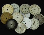 Vintage Antique Watch Dials Steampunk small round Faces Parts O 23