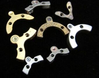 Destash Pocket Watch Clock Parts Assemblage Altered Art Steampunk Charms  RJ 78