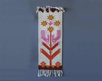 Scandinavian Bird Weaving Textile Art Wall Hanging