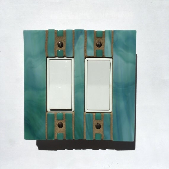 Soft Green Wall Switch Plate Glass Switchplate Light Switch