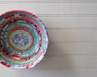 "6"" Coiled Fabric Bowl - Joy (L)"