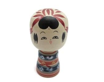Vintage Kokeshi Doll - Artist Signed