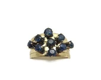 14k Sapphire Stack Ring - Gold Gem Ring, September Birthstone Jewelry