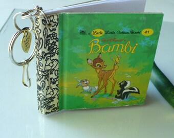 Bambi Notebook Keychain, Nobebook Key Chain, Charm Key Chain, Book Keychain