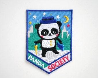Panda Society Iron On Patch