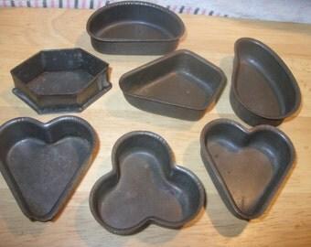 BAKING TIN SHAPES love heart etc