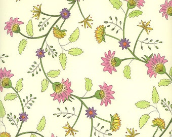 Flower Pink Blossoms Print Italian Paper ~ Leonardo Italy   IPL821