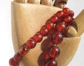 Vintage bakelite necklace Cherry amber rootbeer bead necklace