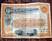 1919 West Shore Railroad co bond for 500.00