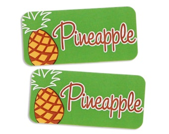 Pineapple Bakery Labels - stickers for packaging cookies, cake, muffins, treats, and baked goods