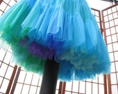 Multi Color Chiffon Skirt, Two Chiffon Layers, Fully Lined, Your Color Choices Custom