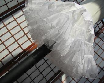 Petticoat White Sparkle Organza -- READY TO SHIP